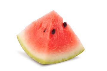 isolated triangle slice of water melon on white background