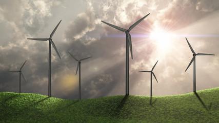 Wind generators on greenfield