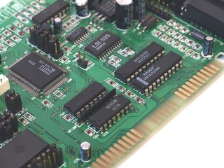 Closeup of extension computer board