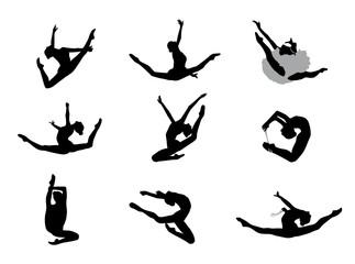 Gymnastique Rythmique Sauts Vectoriel