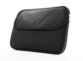 Black soft bag isolated on white