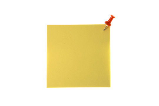 Note paper with red tack