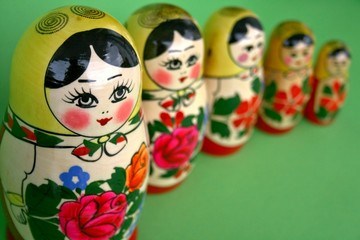 Matryoshka dolls handmade in Russia
