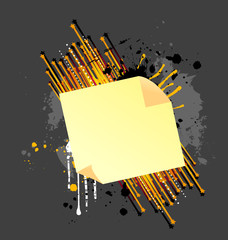 An awesome abstract paper banner vector