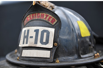 Isolated fireman's hat