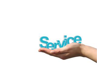 Service auf der Hand