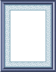 Blue Frame with Paw print Border - isolated easy clipping