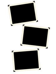 Photo framework retro isolated on a white background.