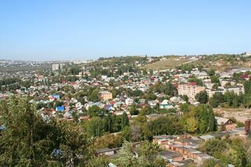Panoramic view of  Saratov city.