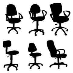 Various armchairs illustrations isolated on white