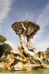 Italy Older Fountain in Rome city