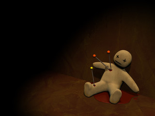 Dark series - voodoo doll, pierced with pins