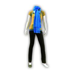Mannequin à l'écharpe bleu