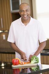 Man Chopping Vegetables