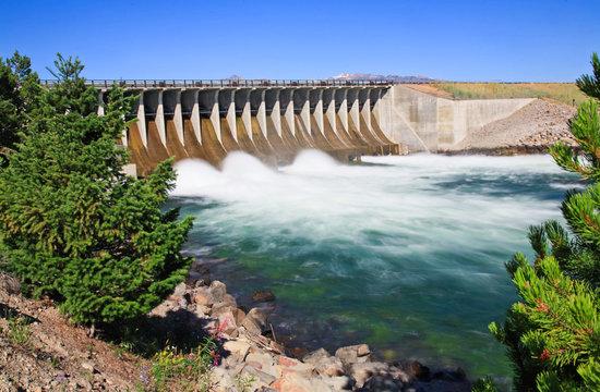 The Jackson Lake Dam at the Grand Teton National Park