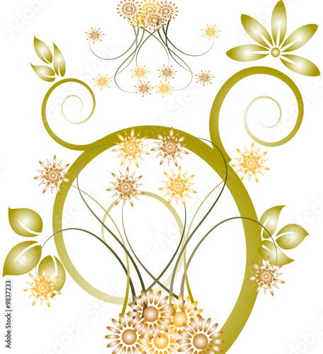 u0026quot floral arabesque verte u0026quot  fichier vectoriel libre de droits