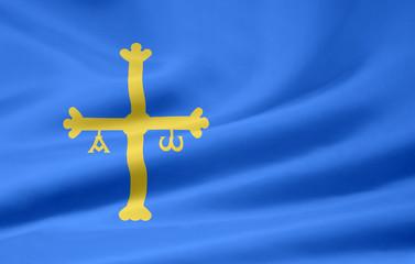 Flagge von Asturien
