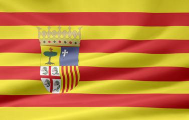 Flagge von Aragon
