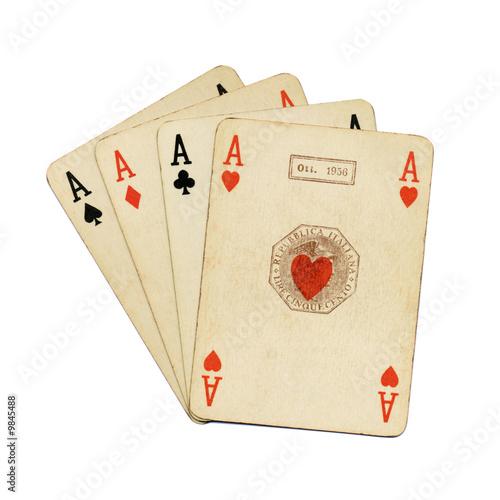 poker d 39 assi carte da gioco ramino vintage immagini e