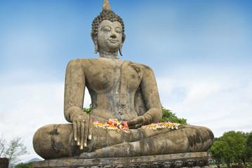 Buddha at World Heritage Site,Sukhothai,Thailand