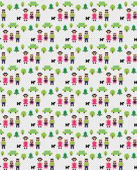 Pixel family pattern