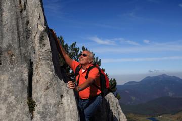 senior climbing