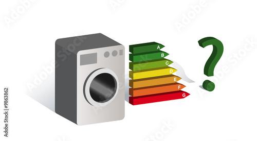 machine laver consommation d 39 nergie fichier vectoriel libre de droits sur la banque d. Black Bedroom Furniture Sets. Home Design Ideas
