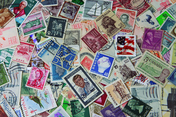 Postage Stamps Background