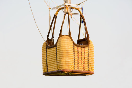 Empty Hot Air Balloon Basket