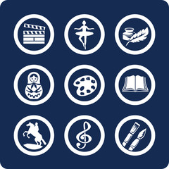 Culture and Art vector icons (set 12, part 2)