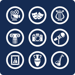 Culture and Art vector icons (set 12, part 1)