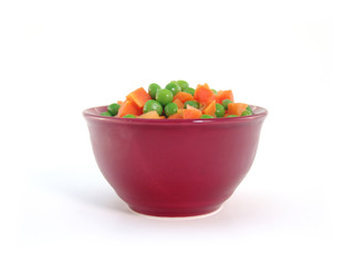 peas and carrots in dish