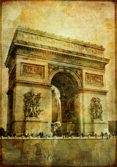 Fotomurales - arc de triumph - vintage card (from my Parisian series)