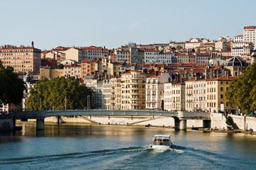 Fotorollo Stadt am Wasser Lyon, quais de Saône