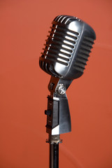 Old fashion retro microphone for singing