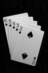 Straight Flush Poker Cards