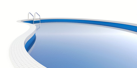 Pool isolated on white(with clipping path)