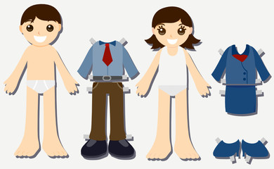 Paper Doll Kids - Business