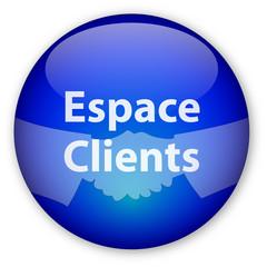 """Bouton """"Espace Clients"""""""