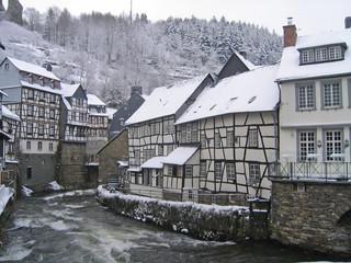 Winter snow Monschau Germany