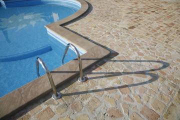 Detail of nice Italian swimming pool.