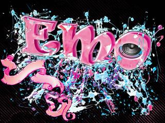 Emo music illustration