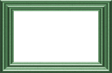 Green Picture / Text Frame - with Isolated clipping path