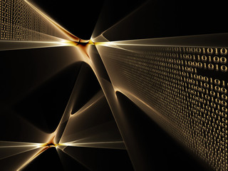 binary code data flow, technology style background