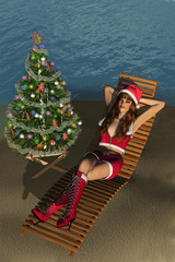 Christmas at the Beach - 3D render