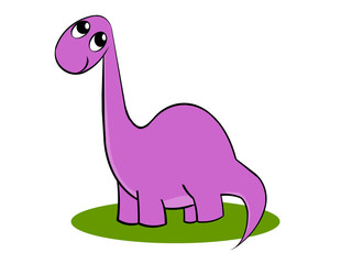 Petit dinosaure brontosaure