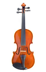 violin isolated against white background