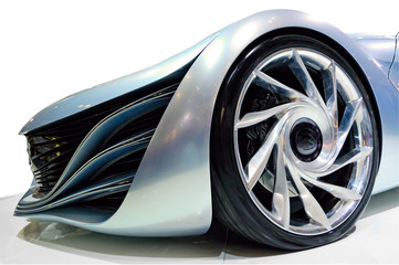 Angle view of the concept car