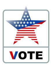 usa vote symbol banner on white background