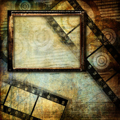 grungy art - abstract background with place for picture or text